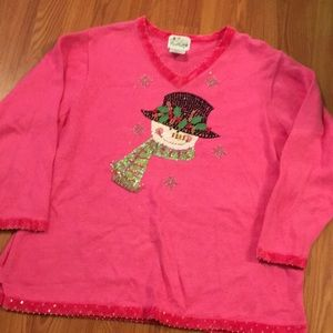 The Quacker Factory Christmas Sweater size 1X